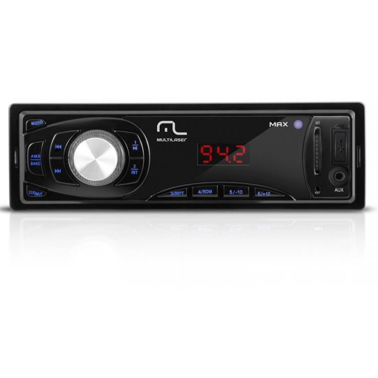 Radio Automotivo Com Leitor Usb-sd Multilaser - Max - P3208